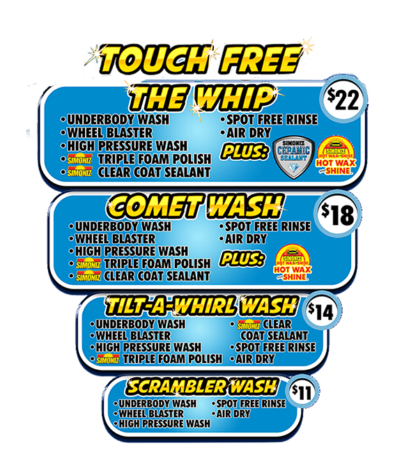 Touch free car wash options